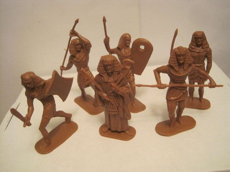 JECSAN EGYPTIAN WARRIORS OF THE WORLD 6 MARX RECAST 60MM PLASTIC TOY SOLDIERS #JECSANRECASTS