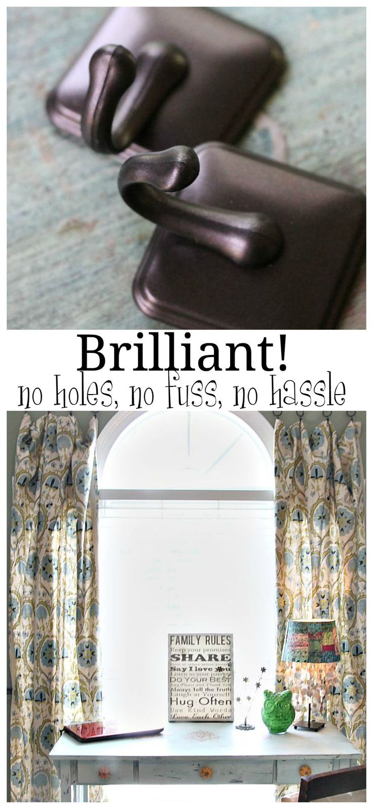 17 Best Ideas About Hanging Curtain Rods On Pinterest