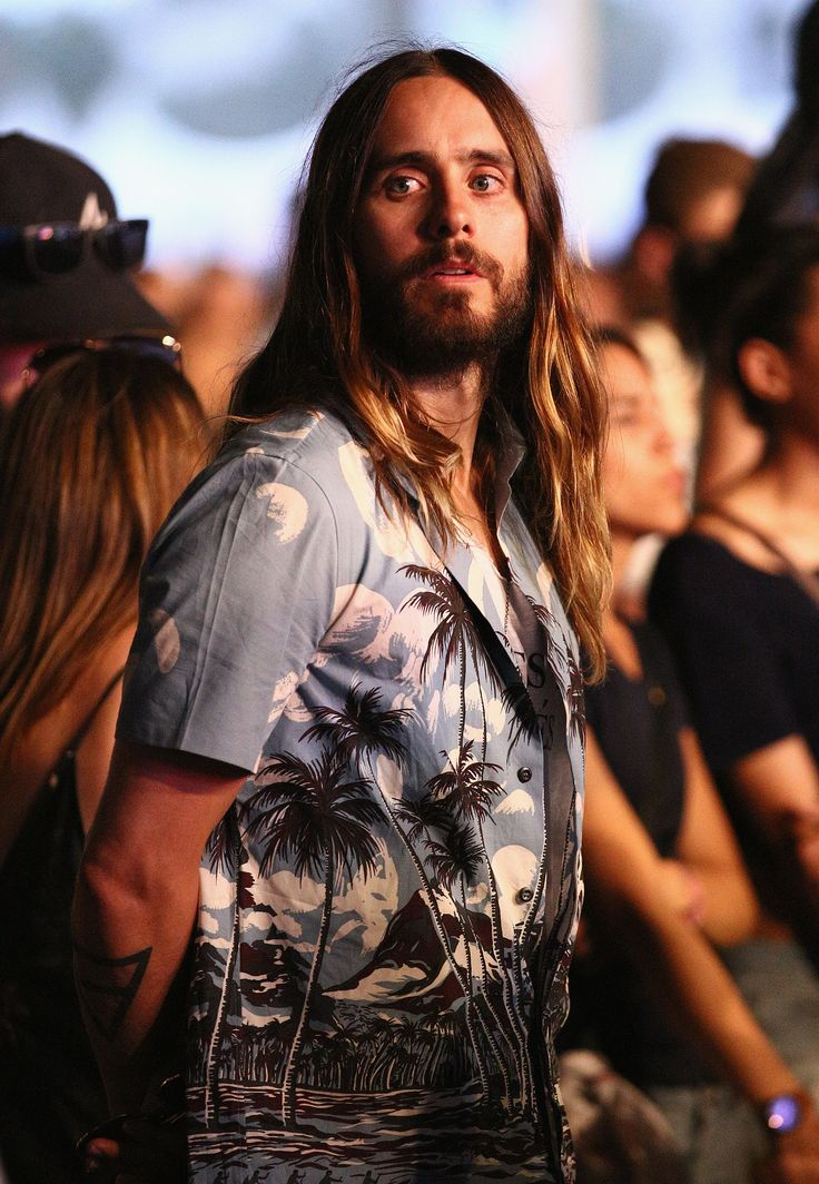 Jared Leto: Jared's rock-star strands blended right into the Coachella crowd.