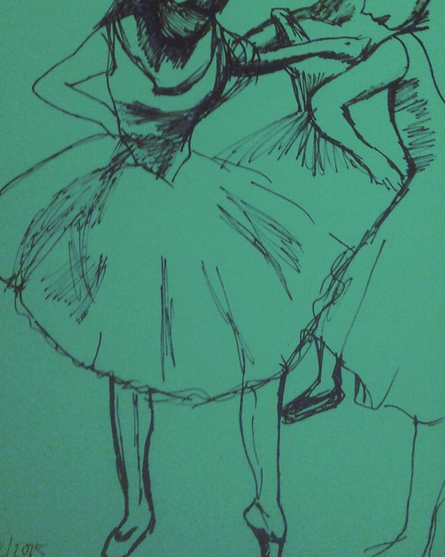 Les danseuses de Degas - stylo #dessin #sketch #croquis #drawing #draw #pendrawing #illustration #illustrator #illu #illustrationart #art_spotlight#doodling #doodle #doodlesofinstagram #drawingoftheday#artgallery #sketchbook#dibujo #dibujar #edgardegas #degas #danse#dancer #ballet #balletdancer#ballerinas #ballerine #pen #quickdraw