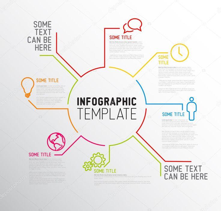 Шаблон звіту інфографіки — стокова ілюстрація #48503619