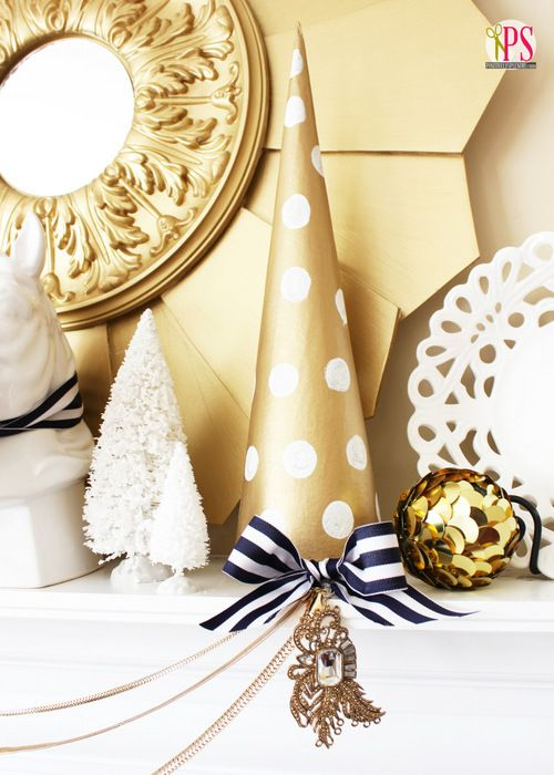 Work Christmas Party Ideas Gold Coast Part - 39: A Blue And Gold Mantle With Accents Of White Is A Unique Way Of Adding A