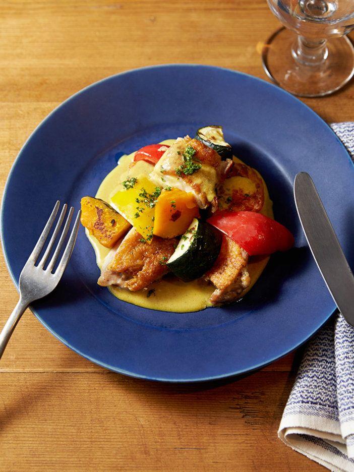 【ELLE a table】タンドリーチキンと野菜のグリル ココナッツオイルと豆乳のカレーソースレシピ|エル・オンライン