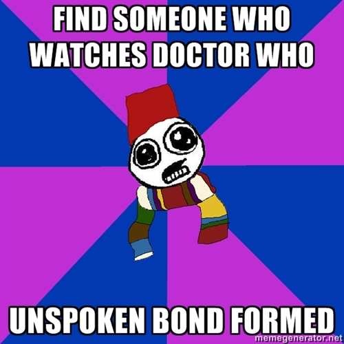 FACT. but then, from my experience, you do a lot of speaking about doctor who!