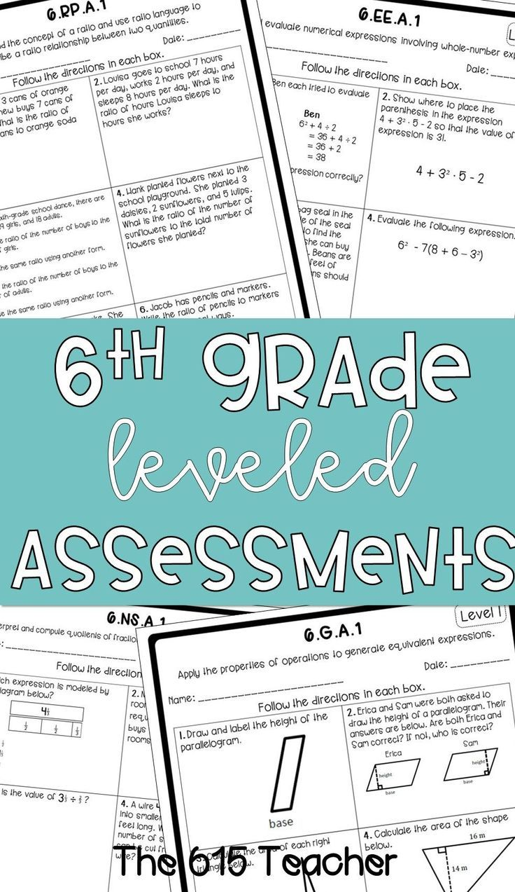 6th Grade Differentiated Standard Sheets Bundle Common Core Worksheets Middle School Math Teaching 6th Grade [ 1273 x 736 Pixel ]