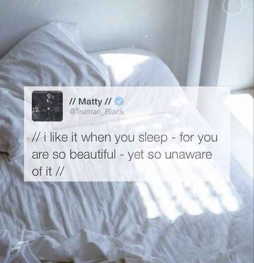 He's totally deep.   19 Things You Should Know About The 1975