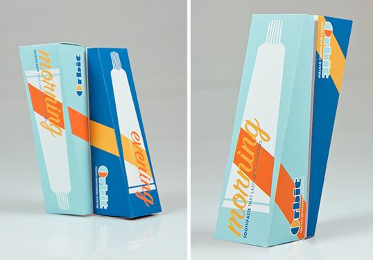 Morning and Evening toothpaste package design....