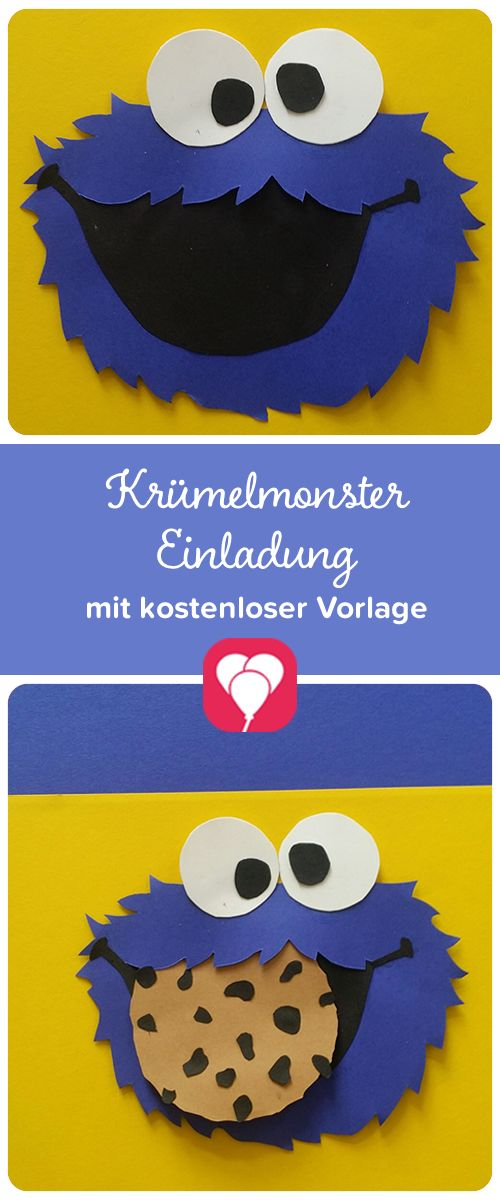 Ein Sesamstraßen-Kindergeburtstag macht richtig viel Spaß! Die passende Einladung gibt's hier! Auf balloonas.com zeigen wir Dir, wie Du ganz schnell eine Krümelmonster-Einladung gestalten kannst.  Weitere passende Ideen für Deinen Kindergeburtstag findest Du auf balloonas.com #kindergeburtstag #sesamstrasse #motto #elmo #krümelmonster #ernie #bert #mottoparty #einladung #invitation #diy #selbermachen