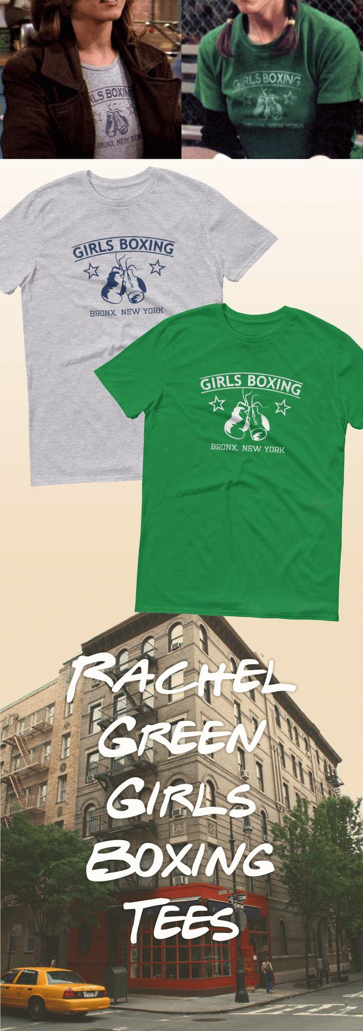 New & exclusive to Zealo Apparel - Rachel Green's Girls Boxing tee replicas! | https://zealoapparel.com/products/friends-rachel-green-girls-boxing-t-shirt