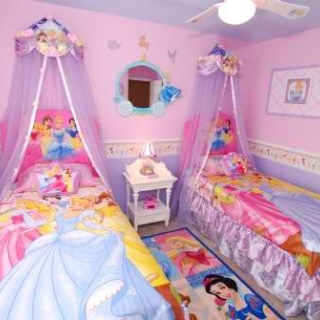 Best 25 princess bedroom decorations ideas on pinterest for Twin girls bedroom ideas