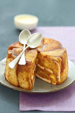 Charlotte aux pommes caramélisées au beurre salé