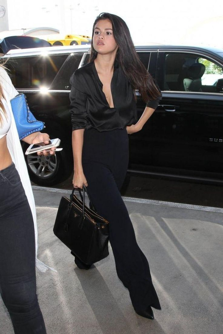 Selena Gomez wearing Prada Saffiano Galleria Tote Bag and Saint ...