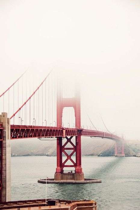 #bridge Golden_Gate San_Francisco travel photography fog red