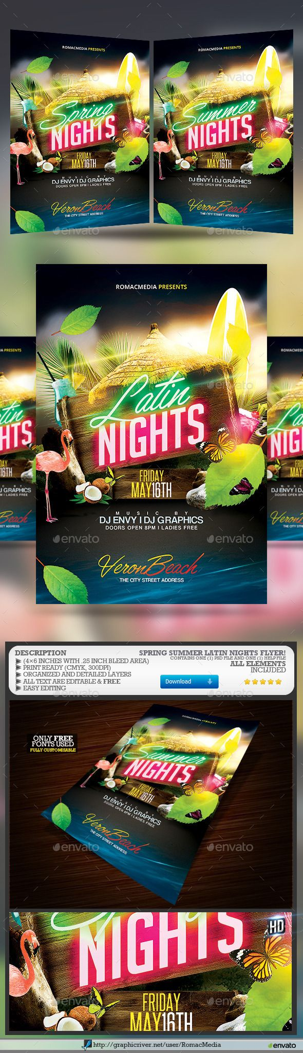 Spring Summer Latin Nights  - Clubs & Parties Events