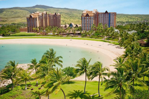 Aulani Resort & Spa is a giant waterpark for kids and adults, right on the ocean on the Hawaiian island of Oahu.