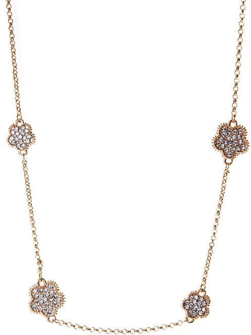Jardin Gold-Tone Clover Necklace