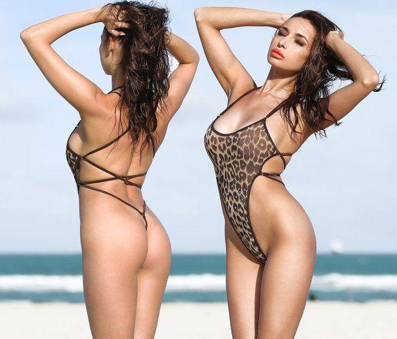 e468b85102131 Erotic One Piece Swimsuit Bodysuit Bathing Suit Exotic Monokini Swimwear  Hot Thong High Cut Leg Open
