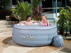 4 Person Inflatable Outdoor Hot Tub Spa