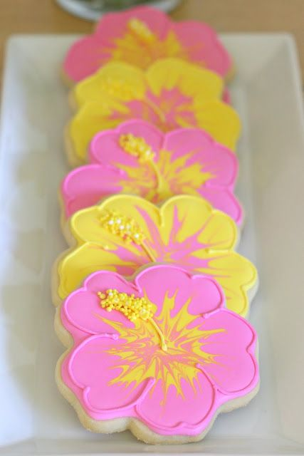 I'm here today to show you how to decorate hibiscus cookies, like the ones I included in my Luau dessert buffet last weekend. I receivedlots ofsweet comment regarding these cookies, and I'll admit I find them pretty special too. The decorating process involves several steps, but none of them are too complicated, and I think …