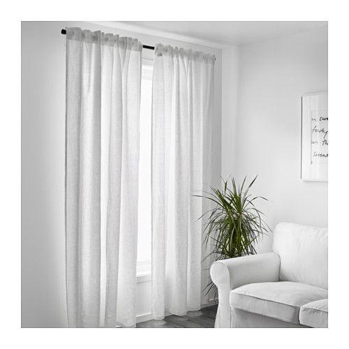 AINA Rideaux, 1 paire, blanc 145x300 cm blanc