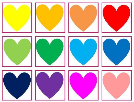Hartjes bingo, leuk voor Valentijn, moederdag, vaderdag of een bruiloft - Creatief en Simpel - Download op onze site