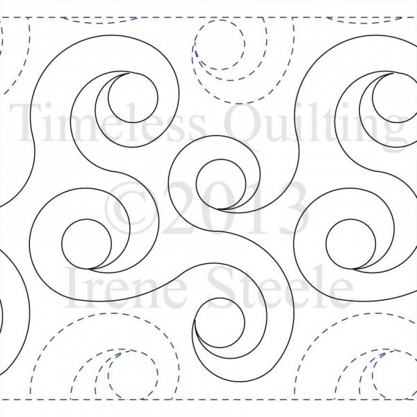 Longarm Quilting Stencils : SPIRAL RINGS Paper Version Spiral, Leaves and Ring