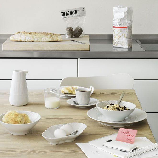 White Elements Breakfast Table in the 2012 Royal Copenhagen Catalogue