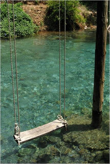 swing over a pond!! Magical.