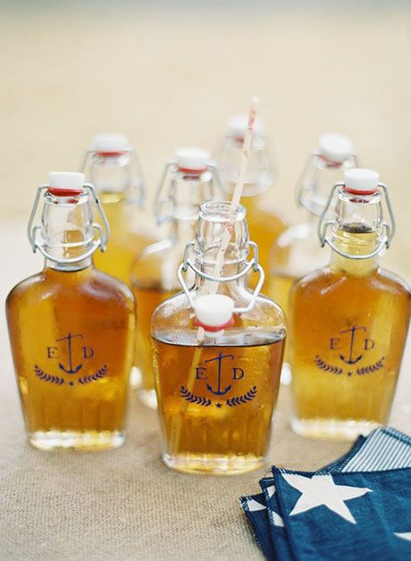 Personalized flasks with Arnold Palmer   Brides.com