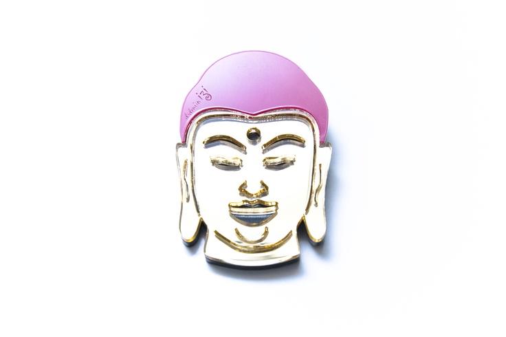 Aynalı Buddha Broş