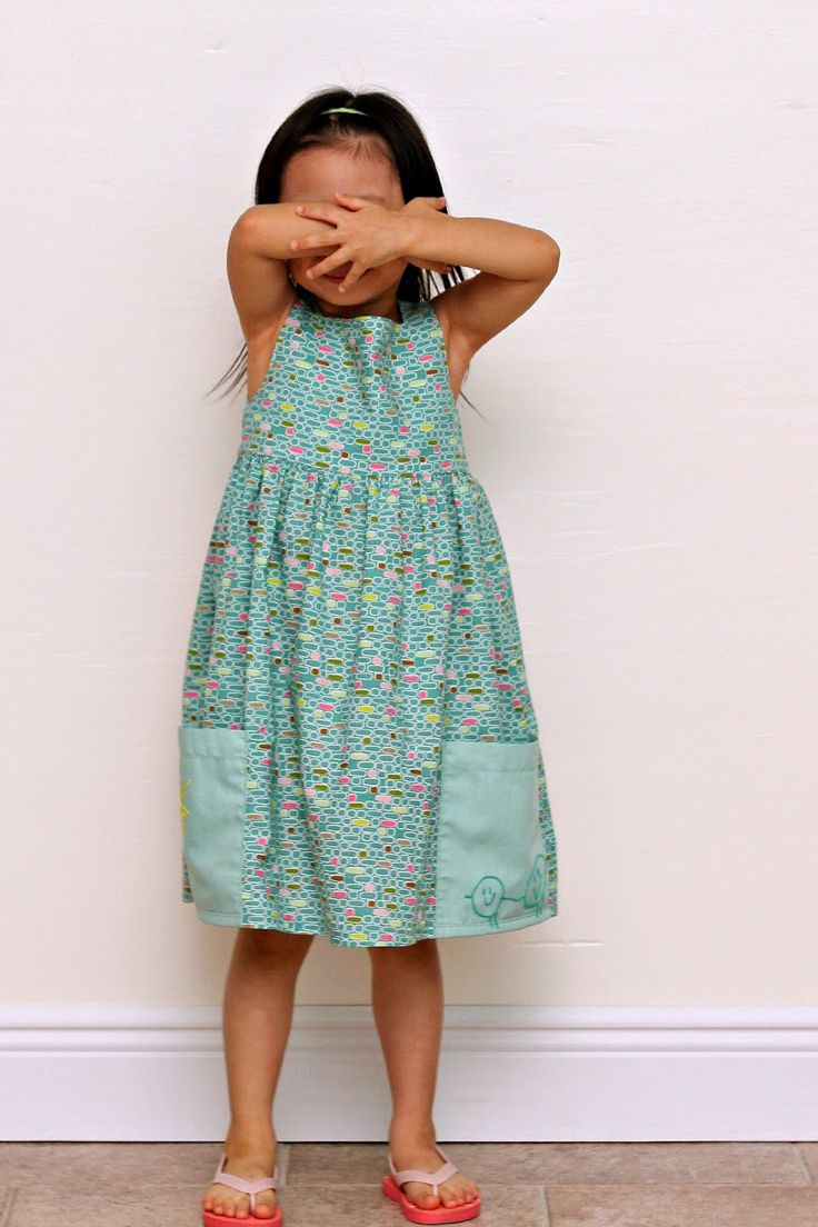 Peaches and Bees: Kid Art Sally Dress for Little Momo