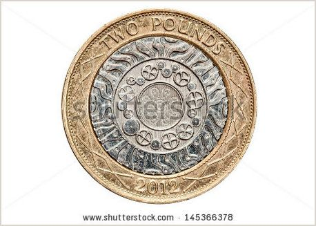 British Two Pound Coin Isolated on White - Shutterstock
