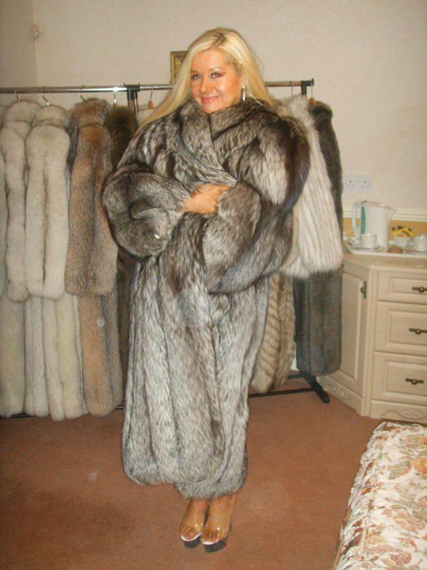 I love my silver fox fur coat