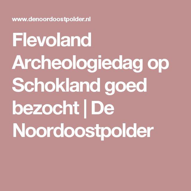 Flevoland Archeologiedag op Schokland goed bezocht | De Noordoostpolder