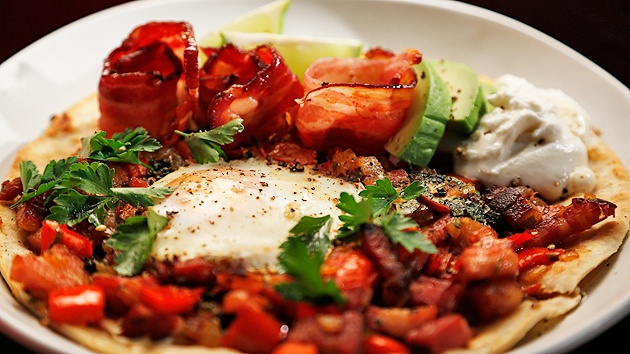 MKR4 Recipe - Bacon Huevos Rancheros with Bloody Mary Salsa