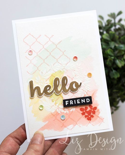 Stampin Up Hello Friend Card by Stampin with Liz Design