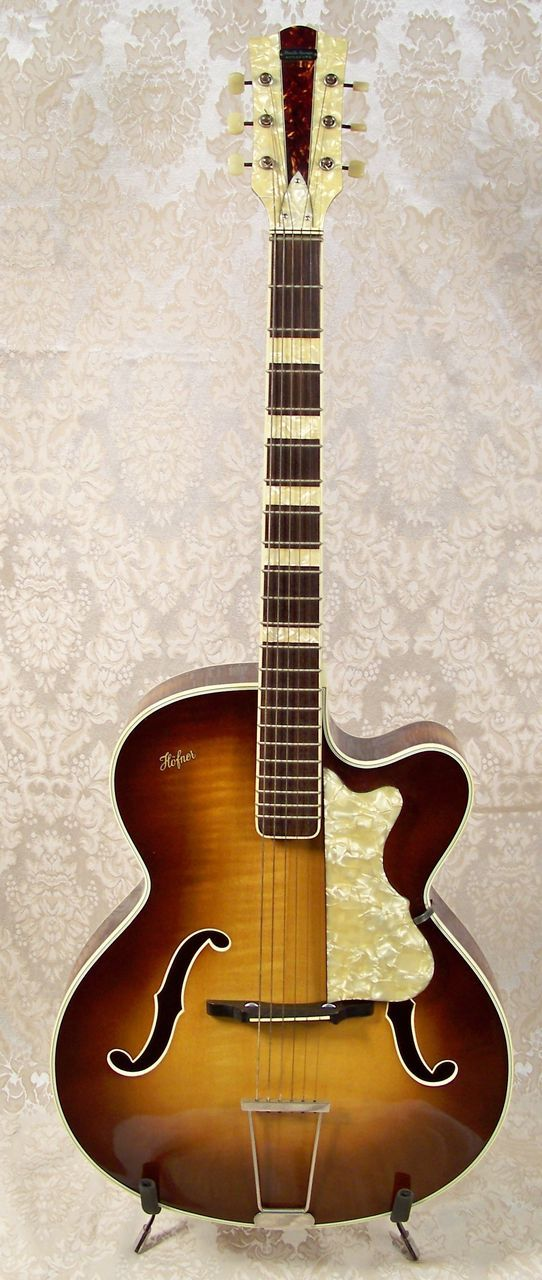 rare guitars | Vintage Hofner Archtop Acoustic Guitar | Vintage Archtop Guitar