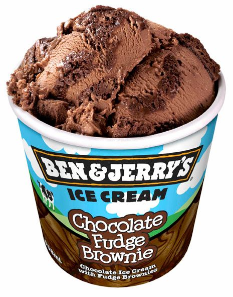 Ben and Jerry's Chocolate Fudge Brownie Ice Cream. ALL FOR ME!!!!!!