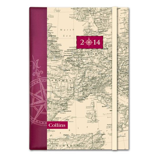 2014 Contour Diary A5 Textured Laminated Covers - MP53 #diary #diaries #maps