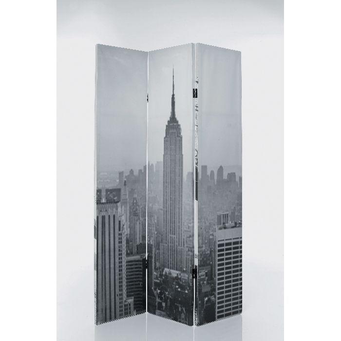 """Παραβάν I Love N.Y Εντυπωσιακό παραβάν διπλής όψεως με φόντο τη Νέα Υόρκη σε ασπρόμαυρη απόχρωση. Εκτύπωση σε καμβά. Το πασίγνωστο παρατηρητήριο """"Empire State Building""""  θα φέρει αέρα Αμερικής στο χώρο σας."""