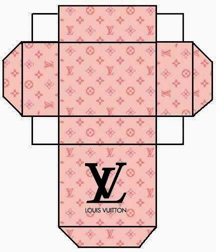Cajitas de Louis Vuitton para Imprimir Gratis.