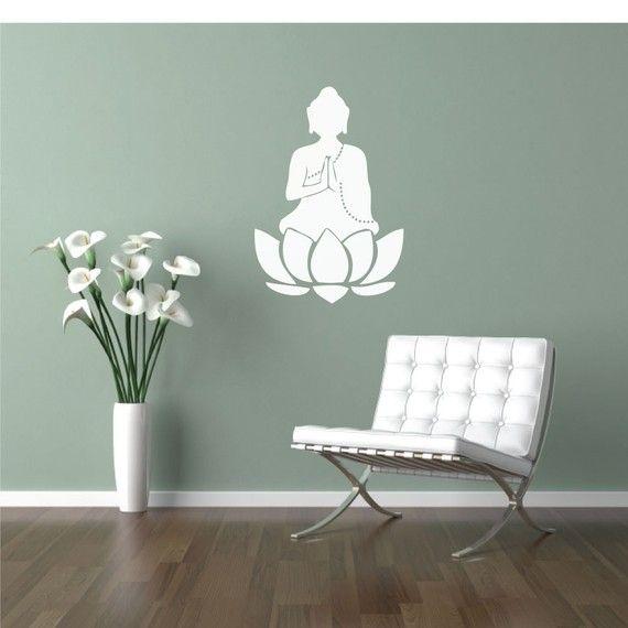buddha and the sage green wall, love