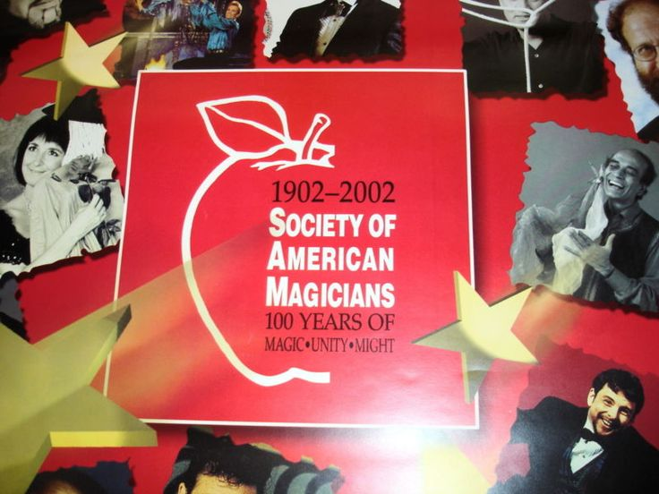 SOCIETY OF AMERICAN MAGICIANS CENTENNIAL CONVENTION POSTER 2002 ORIGINAL VINTAGE Please check out all our rare value priced Magic tricks & Books at: http://stores.ebay.com/webrummage