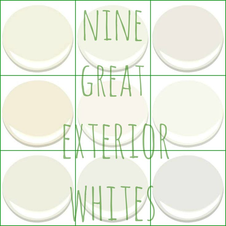 Lesli does really nice round ups of colors, this is another White color story that she has done.  ~Deborah   THE WHITE HOUSE   GREAT EXTERIOR WHITES