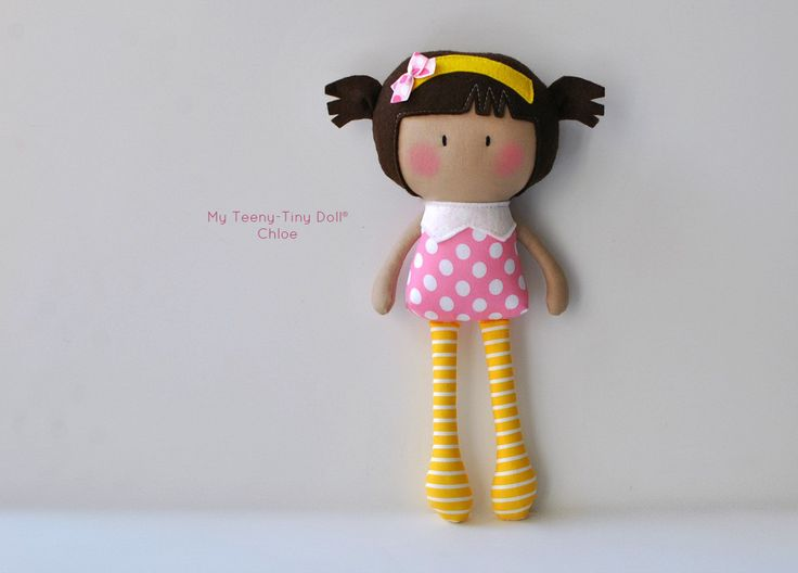 "My Teeny-Tiny Doll® Chloe / 11"" Handmade Fashion Doll by Cook You Some Noodles®"