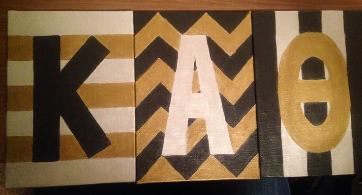 Canvas letters for my Little. Kappa Alpha Theta craft.