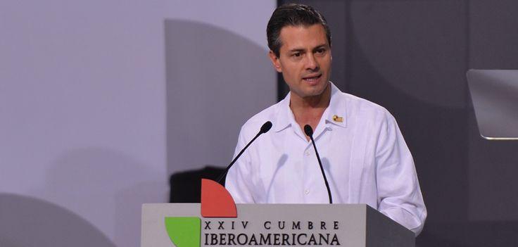 Este evento estuvo encabezado por el presidente, Enrique Peña Nieto y la secretaria general Iberoamericana, Rebeca Grynspan Mayufis, quien agradeció al mandatario estatal por la calidez y buen trato a su llegada.