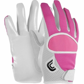 I'm sure if I had pink receiving gloves I'd catch more footballs then I do now for my team