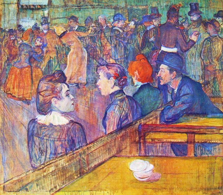 Henri de Toulouse-Lautrec, Al Moulin de la Galetté, cm. 88,9 x 101,3, Art Institute, Chicago
