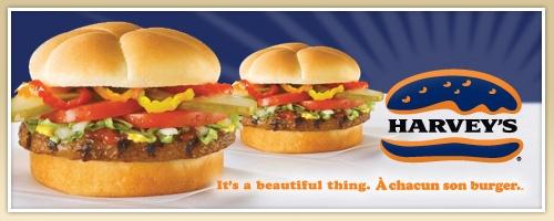 Harveys hamburger -- with onion rings please...no not the world's best burger but it's Harvey's